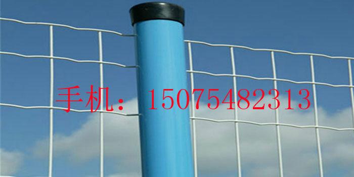 """波浪型防护网是一种外型高大的焊网,上部有保护性尖刺,网线为镀锌钢丝或低碳钢丝,铝镁合金编织,加PVC涂塑处理,本产品又称:""""波浪隔离栅""""。在保持美观的同时,保证了最大程度的坚固与耐用。产品规格:网格50mm-150mm ,钢丝直径3.0--6.0mm ,钢管边框25-50mm ,立柱48- 200mm ,高度1."""